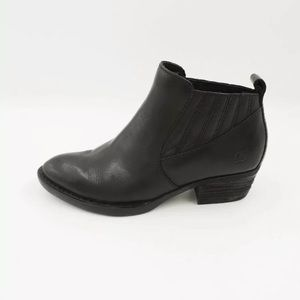 Born Beebe Black Leather Boots 7.5 Chic Classic